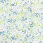 "Decopatch Decoupage Paper Mache ""Light Blue Flowers Roses Green 1450cm"