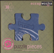 ScrapWorks CB201 Citrus Collection - 30 Extra Large Alphabet Chip Board + 30 Puzzle Pieces