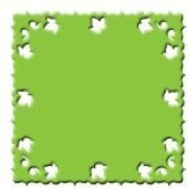 AllDeco Punch Design Cartridge for EasyCut Craft Punch - All-in-One Square - Garden of Blessings