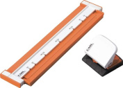 Carl Neo Gauge 26-Hole or 30-Hole Punch - Orange [Office Product]