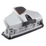 Office Depot Brand Adjustable 3-Hole Punch, 32-Sheet Capacity, Silver