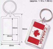 50 Pcs of Blank Clear Acrylic Keyring 28x43mm Photo Insert Craft Keychain 9008
