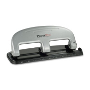 Wholesale CASE of 10 - Accentra Three-Hole Punch-3-Hole Punch, 20 Sheet Cap, Black/Silver