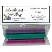 Angelina Film Sampler 10cm X3' 3/Pkg-Confetti -Raspberry/Mint/Sugar Plum