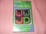 """Caron Krafty Kids 8X8 """"WWJD"""" Latch Hook Kit"""