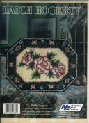 National Yarn Crafts Latch Hook Kit - Elegance Featuring a Floral Pattern 50cm by 70cm