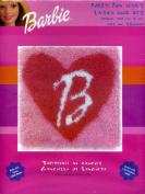 Caron BBooo1 Fuzzy Fun Heart Latch Hook Kit 13 X 13 Barbie