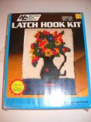National Yarn Crafts Latch hook kit VINTAGE flowered pitcher design