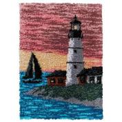 Craftways Sunset Lighthouse Latch Hook Kit
