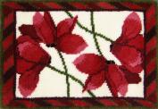 M.C.G. Textiles Cyclamen Latch Hook Rug Kit