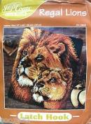 Latch Hook Regal Lions Size