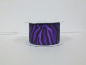 Purple Zebra Print Satin Ribbon 3.8cm Wide