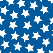 White Stars on Royal Blue Flannel Fabric