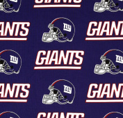 NFL New York Giants 150cm Wide Blue 100% Cotton Print Fabric - Sold By the Yard