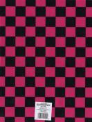 Printed Felt 23cm x 30cm -Checkerboard- Pink/Black 12 per pack