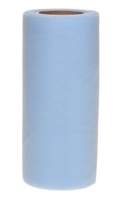 Falk Fabrics Tulle Spool for Decoration, 15cm by 25-Yard, Soft Blue