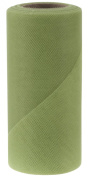 Falk Fabrics Tulle Spool for Decoration, 15cm by 25-Yard, Olive