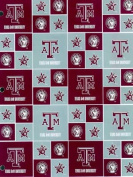 Texas A & M University By Sykel - 100% Cotton 110cm Wide By the Yard