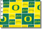 University of Oregon By Sykel - 100% Cotton 110cm Wide By the Yard