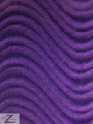 WAVY/WAVE VELVET FLOCKING UPHOLSTERY FABRIC - Purple - 150cm /150cm WIDTH - SOLD BY THE YARD