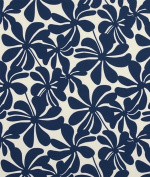 Premier Prints Outdoor Twirly Deep Blue Fabric - by the Yard