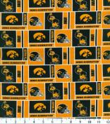 NCAA Cotton Fabric-Iowa Herringbone