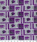 NCAA Cotton Fabric-Kansas State Herringbone