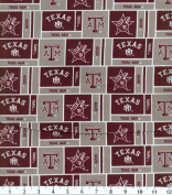 NCAA Cotton Fabric-Texas A & M Herringbone