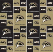 Cotton College Western Michigan University Broncos Print Cotton Fabric By the Yard