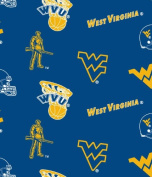 West Virginia University Blue Cotton Fabric