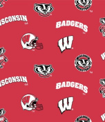 Wisconsin Badgers Cotton Fabric-university of Wisconisin Cotton Fabric By Sykel