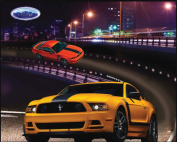 FORD MUSTANG COTTON FABRIC PANEL-FORD MUSTANG COTTON PANEL SOLD BY THE PANEL