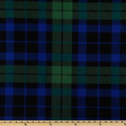 WinterFleece Green/Blue/Black Watch Plaid Fabric