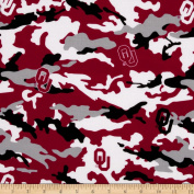 Collegiate Cotton Broadcloth The University of Oklahoma Camouflage Fabric
