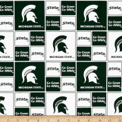 Collegiate Cotton Broadcloth Michigan State University Fabric