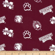 Collegiate Cotton Broadcloth Mississippi State Fabric