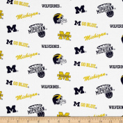 Collegiate Cotton Broadcloth University of Michigan Fabric