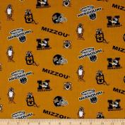 Collegiate Cotton Broadcloth University of Missouri Fabric