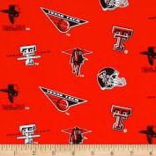 Collegiate Cotton Broadcloth Texas Tech Red Fabric