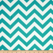 Premier Prints Indoor/Outdoor Zig Zag Ocean Fabric