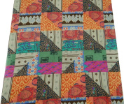 110cm Multicolor Cotton Poplin Abstract Pattern Quilting Material By the Yard