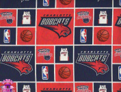 110cm NBA Charlotte Bobcats Checker Cotton Fabric By The Yard