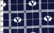 NEW Brigham Young University By Sykel - 100% Cotton Flannel, 110cm Wide
