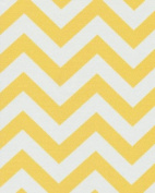 140cm Chevron Yellow Indoor/Outdoor Fabric By The Yard