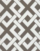 140cm BOXED IN BRINDLE GREY & WHITE INDOOR/OUTDOOR FABRIC BY THE YARD