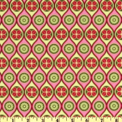 110cm Wide Michael Miller Mezzanine Gothic Wave Leaf Fabric By The Yard