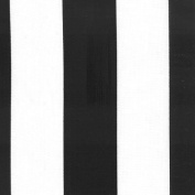 140cm Deck Stripe Black/White Indoor Outdoor Fabric By The Yard