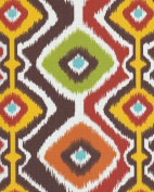 140cm Ikat Mesa Chocolate Indoor/Outdoor Fabric By The Yard