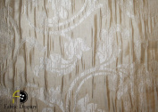 Damask Design, Beverly Carro Collection 555, Colour Ivory, 140cm Sold By the Yard. Reversible Fabric.