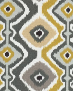 140cm Ikat Mesa Graphite Indoor/Outdoor Fabric By The Yard